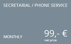 secretarial phone service